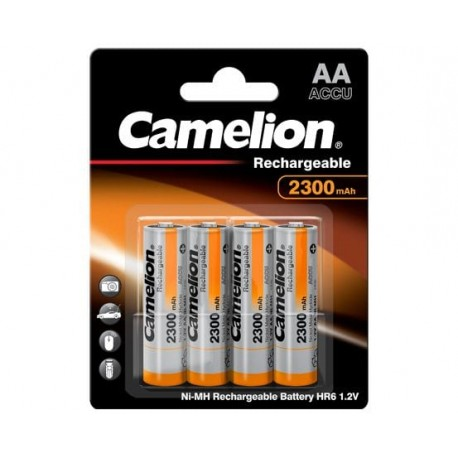 Blister 4 accus HR06 AA 2300mAh Ni-Mh 1.2V Camelion