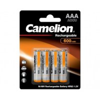 Blister 4 accus HR03 AAA 600mAh Ni-MH 1.2V Camelion