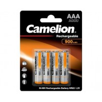 Blister 4 accus HR03 AAA 900mAH Ni-Mh 1.2V Camelion