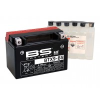 Batterie BTX9-BS / YTX9-BS avec pack acide BS Battery